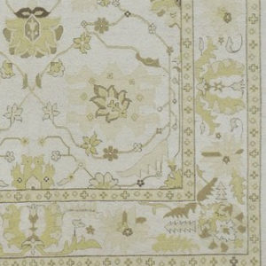Detail: Yellow and Ivory Soumak