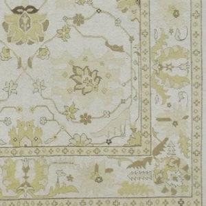 Detail: Yellow and Ivory Soumak