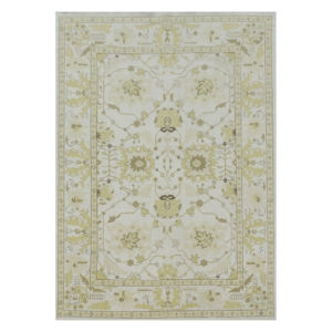 Yellow and Ivory Soumak rug from @kelloggfurn