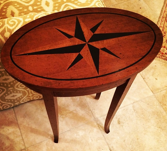 Inlay Compass Rose Table: $849