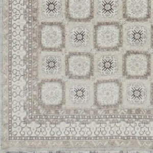 Detail: Grey Soumak rug
