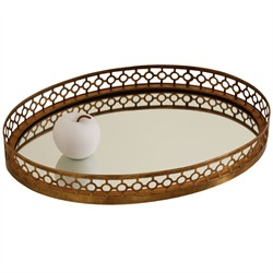 The mirrored geometric tray...reminiscent of a classic Greek key design