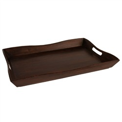 Our mango wood tray...perfect for an ottoman