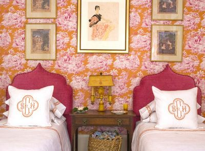 These Pops Of Pink And Orange Are Amazing For A Feminine Interior Showing Diffe Twist On The Monogrammed Bed First Photo Uses Monogram Solely