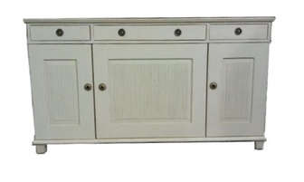 An original Kellogg Collection piece: the white Gustavian Sideboard