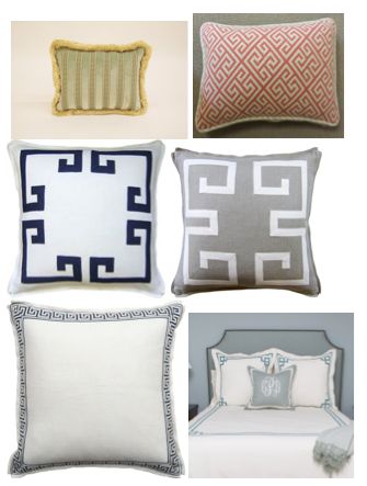 Greek Key bedding ideas