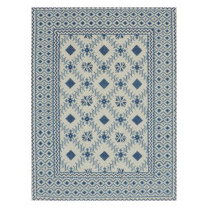 Tangier denim dhurrie rug from @kelloggfurn
