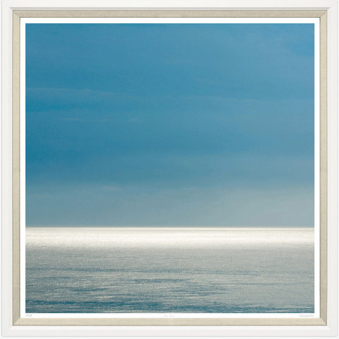 TGTAJ748-612L PRINT, SEA HORIZON WHITE FRAME