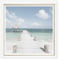 TGBEAJ5-612L PRINT, ANTIGUA BEACH #5 WHITE FRAME 51X43