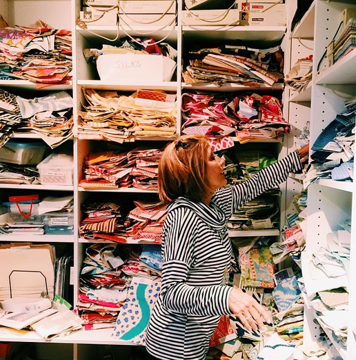 After working at The Kellogg Collection for 18 years, Diane Litz has built up an incredible treasure trove of fabrics.