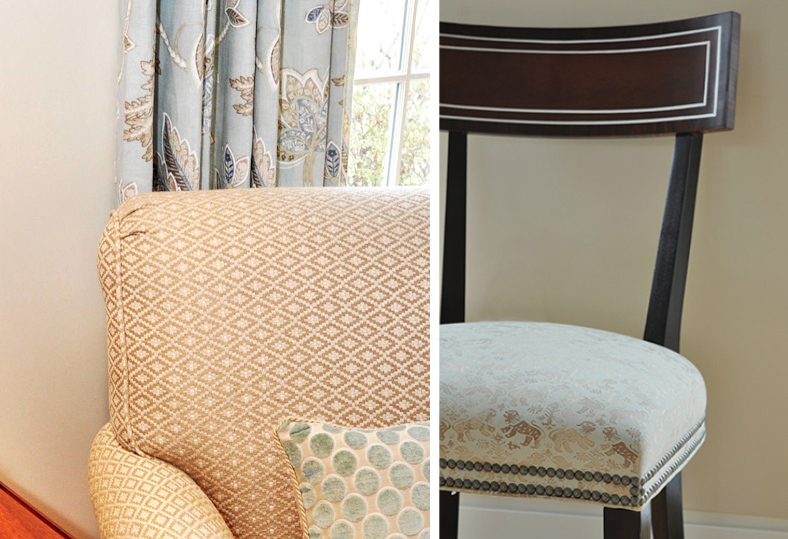 High quality fabrics in your window treatments, pillows and furniture can dramatically improve the look and feel of a home.