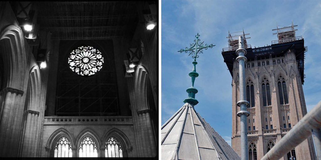 Quatrefoil detail in the Washington National Cathedral. Images via Facebook.
