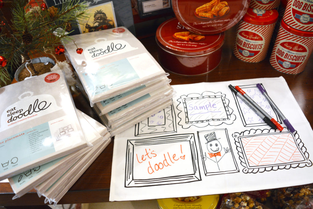 Doodle Placemats – $30 for a set of four.