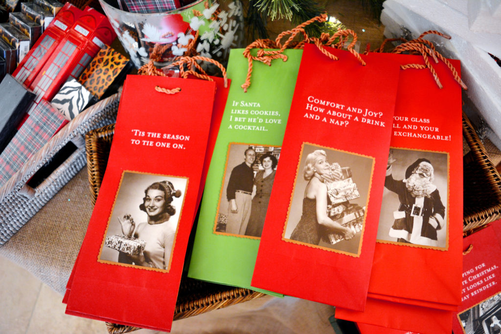 Humorous wine bags, $6 each