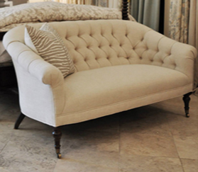Tufted loveseat