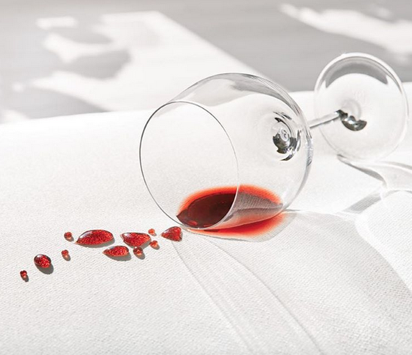 Don't cry over spilled wine on your white sofa! Instead, watch it bead up before you wipe it down with a paper towel. Image via Crypton.